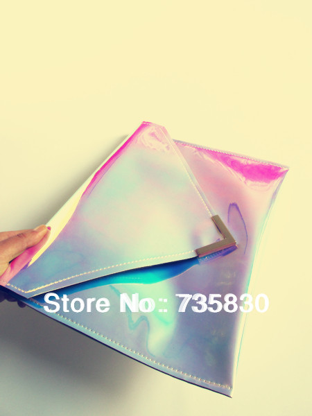 Fashion Rainbow Magic candy color laser handbag envelope clutch Party Queen bag for ipad Valentine's Day birthday gift for girl-in Clutches from Luggage & Bags on Aliexpress.com   Alibaba Group