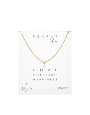 Dogeared | Dogeared Pearls Of Love Friendship & Happiness Necklace at ASOS