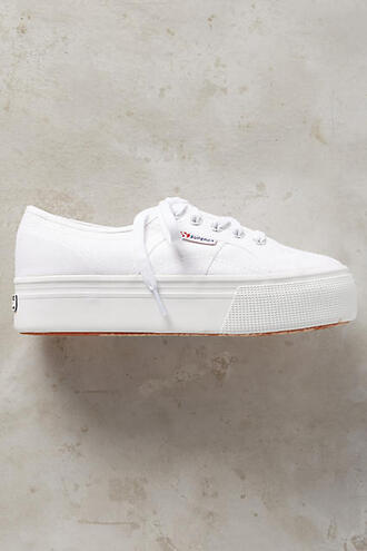 shoes sneakers superga platform sneakers white sneakers