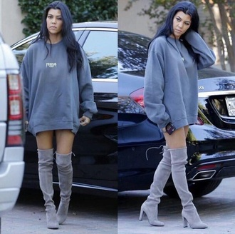 yeezus shoes grey boots sweater sweater dress oversized sweater