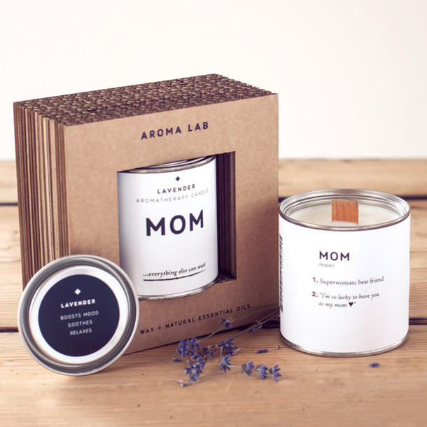Home Accessory Aroma Lab Lavender Candle Gift Mom Mother Birthday Gifts For Present