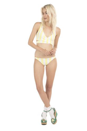 top bikini top lolli swimwear print yellow lolli swim bikiniluxe