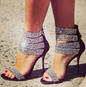 shoes,heels,black,silver,they,look,fabulous,them,tumblr,instagram,diamonds