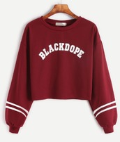 sweater,burgundy,red,crop,crop tops,cropped,cropped sweater,white,blackdope