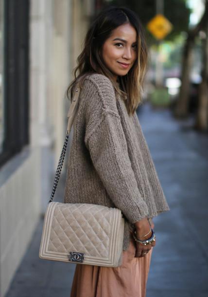 sweater grey brown beige brown streetwear
