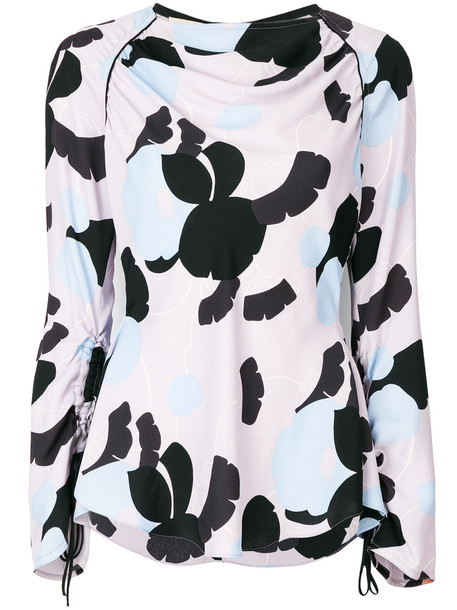 MARNI top women print purple pink
