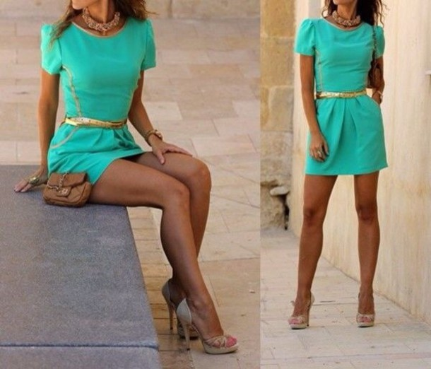 dress tiffany blue turquoise short dress