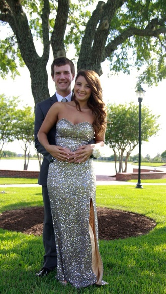 dress prom dress gold dress gold sequins