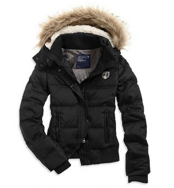 Black Winter Coat With Hood - Coat Nj