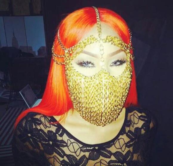 hair accessories chain facemask