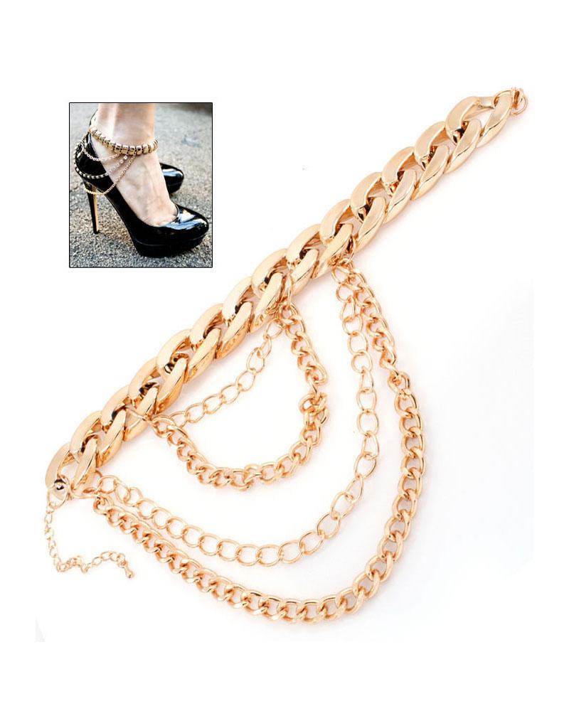 layered chain ankle bracelet | fashion jewelry | 7twentyfour.com