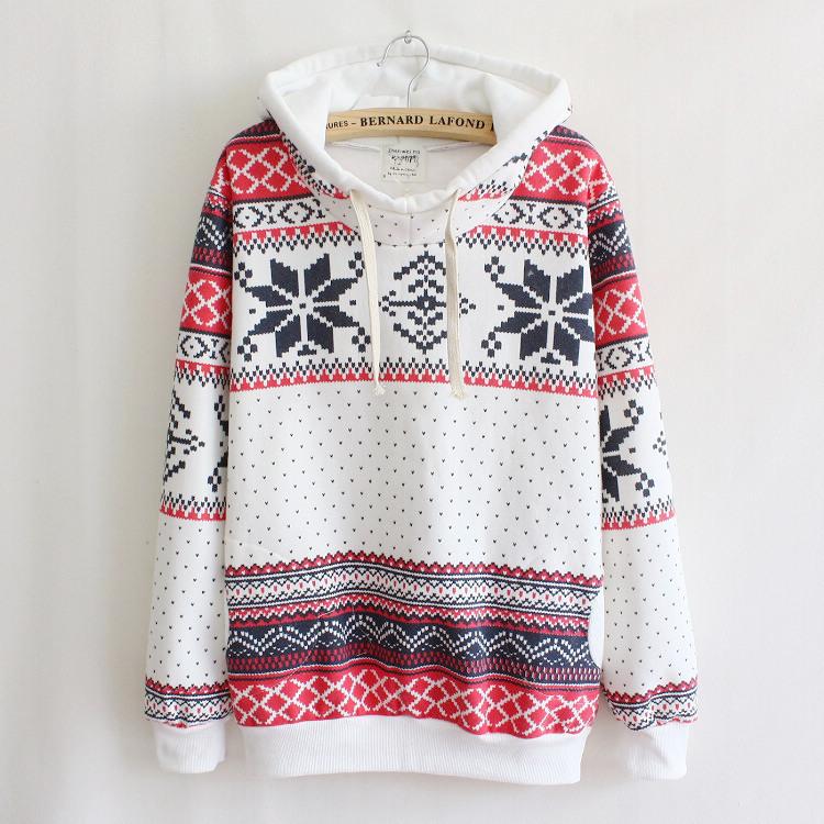 Aliexpress.com : buy elina's 2014 new women winter harajuku fleece thinken snowflake long sleeve casual warm hoody sportwear sweatshirt female from reliable sweatshirt jeans suppliers on elina's shop