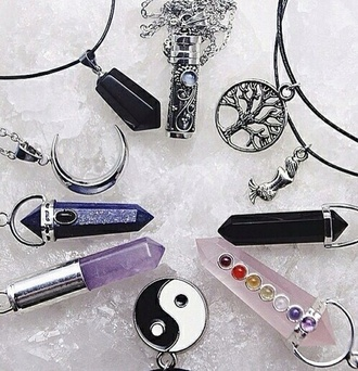 jewels moon purple indie crystal crystal quartz grunge grunge jewelry all black everything