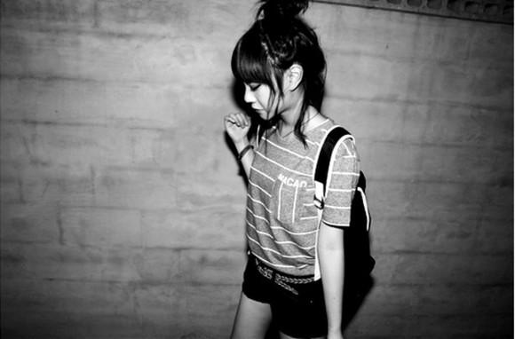 pocket stripes korean ulzzang bangs aegyo