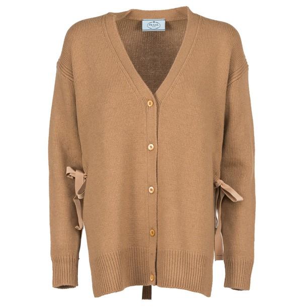 Prada cardigan cardigan camel sweater