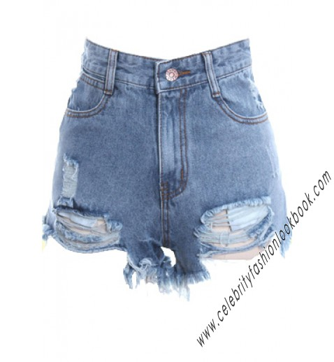 Destroyed Denim Shorts - Shorts - Bottoms - Clothing