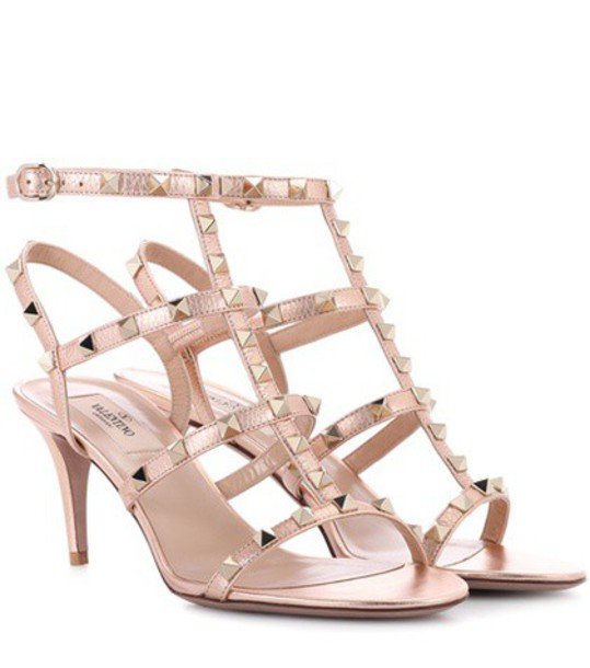 Valentino sandals leather sandals leather metallic shoes
