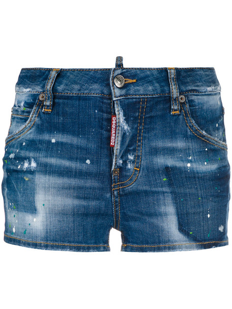 Dsquared2 shorts denim shorts denim women spandex cotton blue