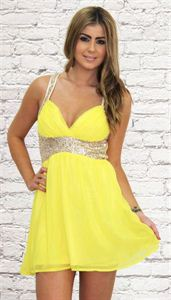 Dancing Queen Dress in Yellow - Shugah Boutique