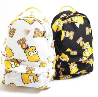 bag backpack bart simpson the simpsons