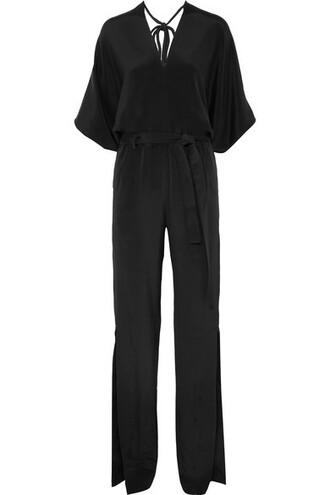 jumpsuit black silk