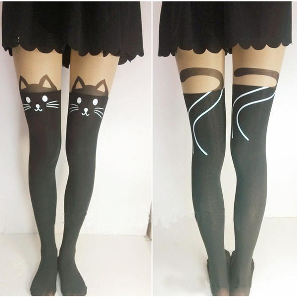 Cat tail tights – crazy cat lady clothing