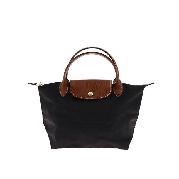 Longchamp women bag handbag shoulder bag black