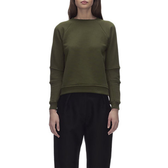 khaki sweater whistles tia seamed jumper jumper