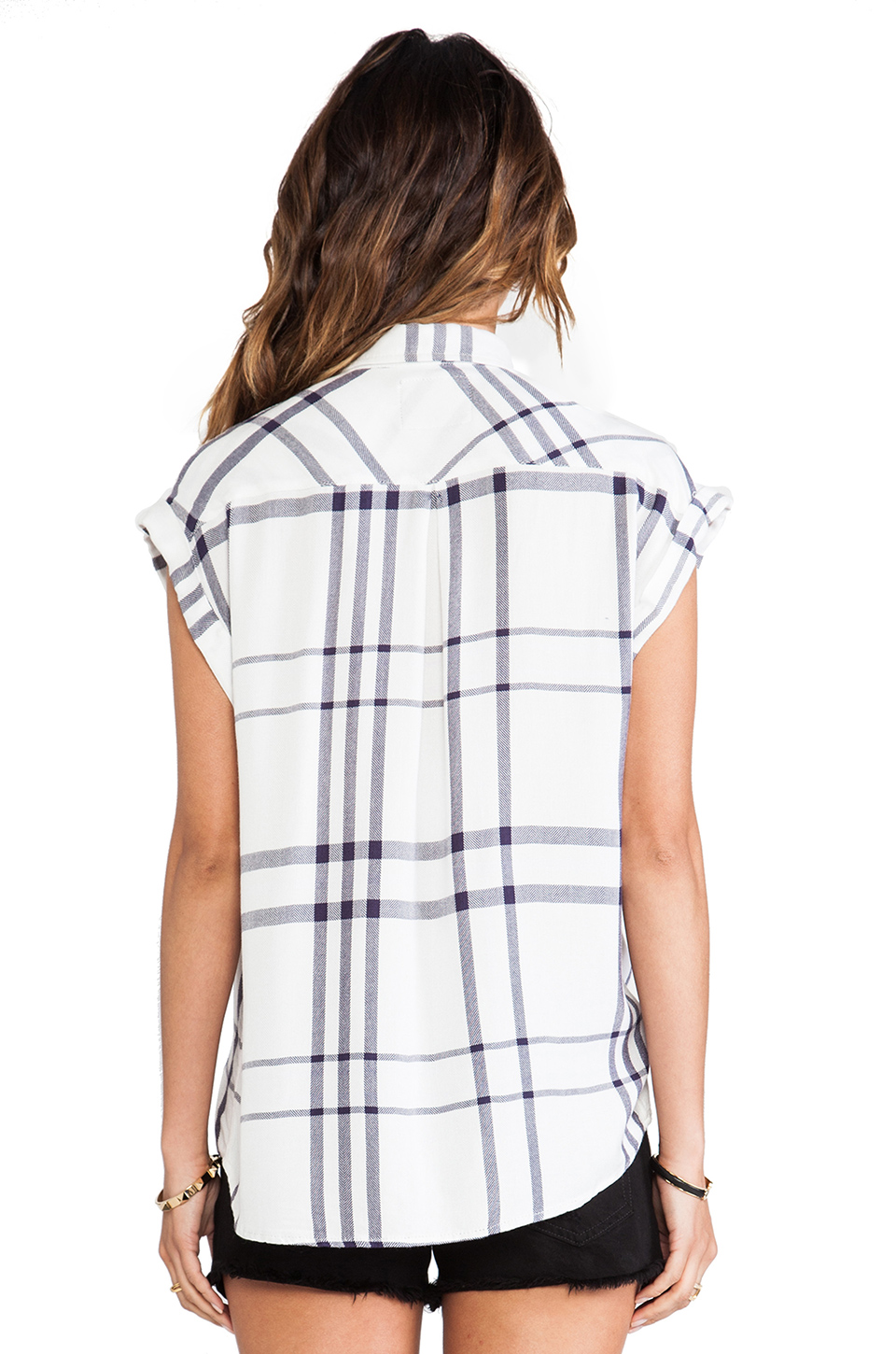 Rails Britt Button Down in Cadet Blue from REVOLVEclothing.com