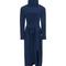 Tibi silk tess midi dress - navy funnel neck tie dress