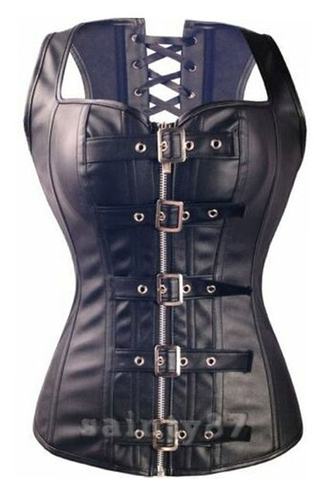 top zaful black corset black corset leather leather corset