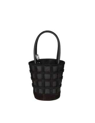 mini leather black black leather bag