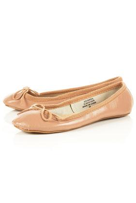 Salmon ballet pumps