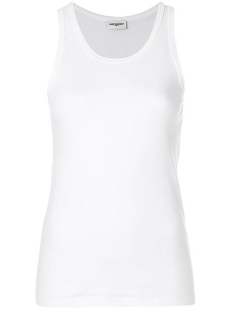 Saint Laurent top vest top women white cotton