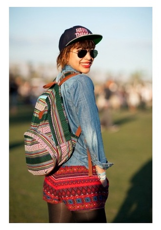 bag backpack tribal print tribal pattern shorts boho bag