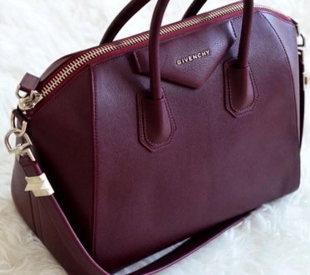 bag burgundy givenchy bag