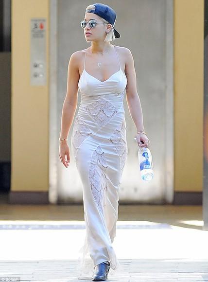dress white dress maxi dress rita ora