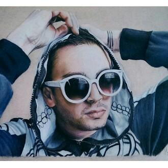 sunglasses tyler joseph white sunglasses hoodie