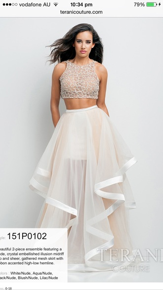 dress formal prom dress two piece dress set