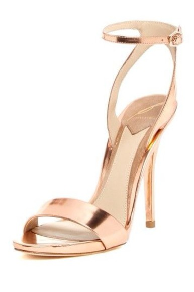 shoes rose gold high heel sandals something similliar