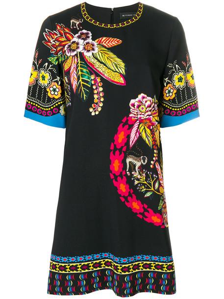 ETRO dress shift dress women spandex floral print black