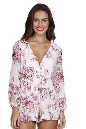 romper,lined playsuit,floral romper,lined romper,long sleeve playsuit,www.ustrendy.com,long sleeve romper