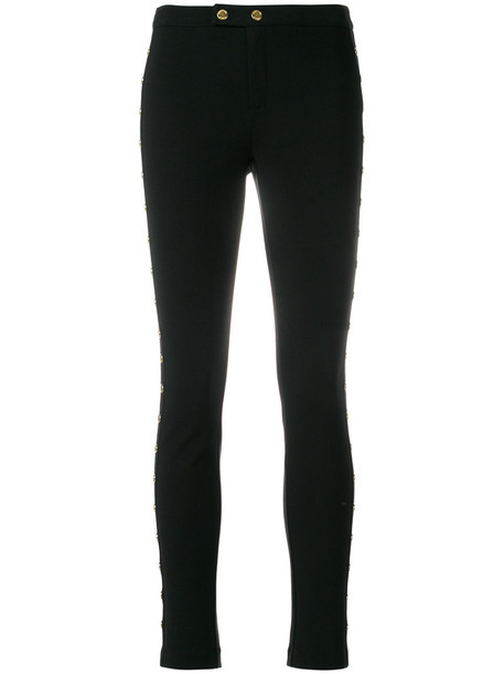 MICHAEL Michael Kors metal women spandex black pants