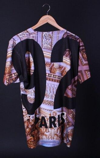 shirt t-shirt pray for paris xlarge dress shirt dress gold