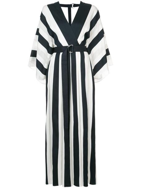 Adam Lippes dress women cotton black silk