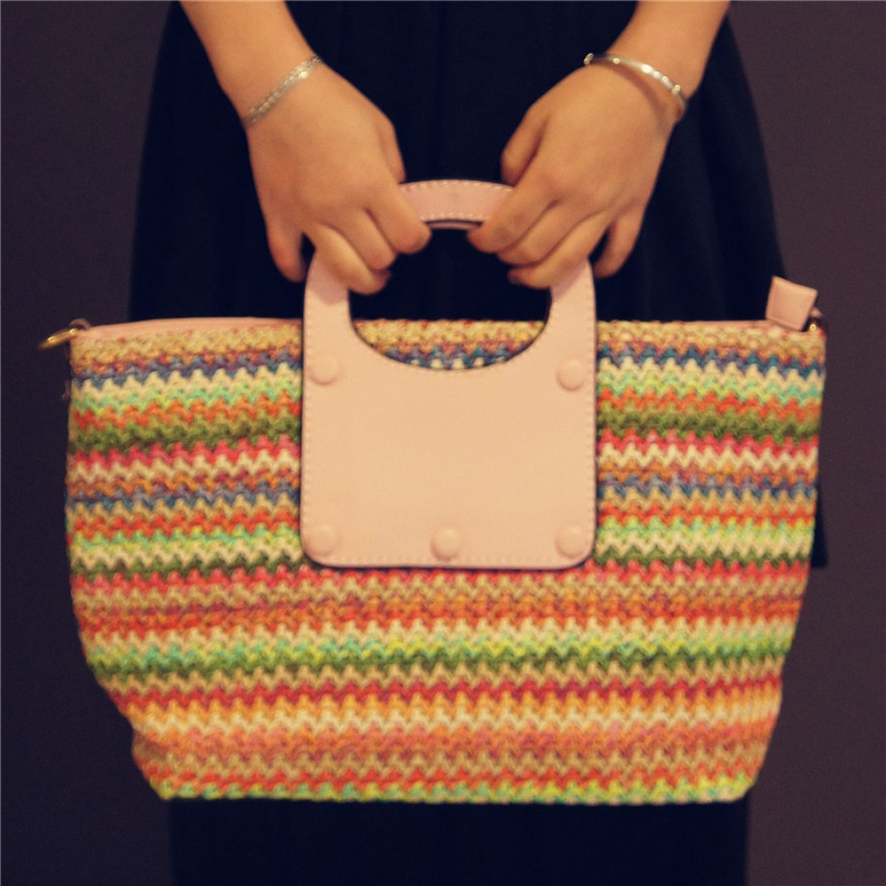 Sweet pink crochet tote