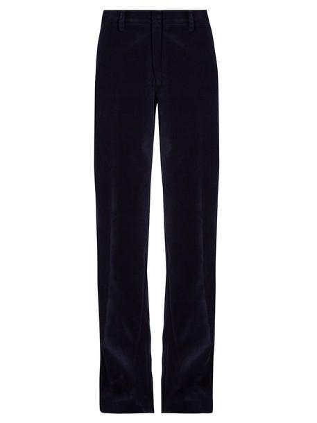 STELLA JEAN velvet navy pants