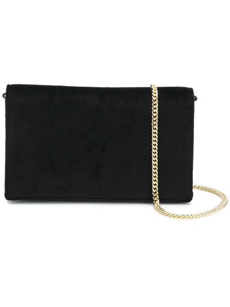 women bag shoulder bag leather cotton black