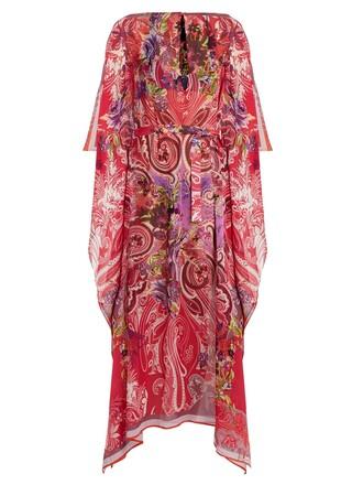 floral print silk paisley pink top