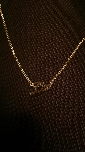 jewels leo chain necklace zodiac cursive necklace zodiac sign necklace